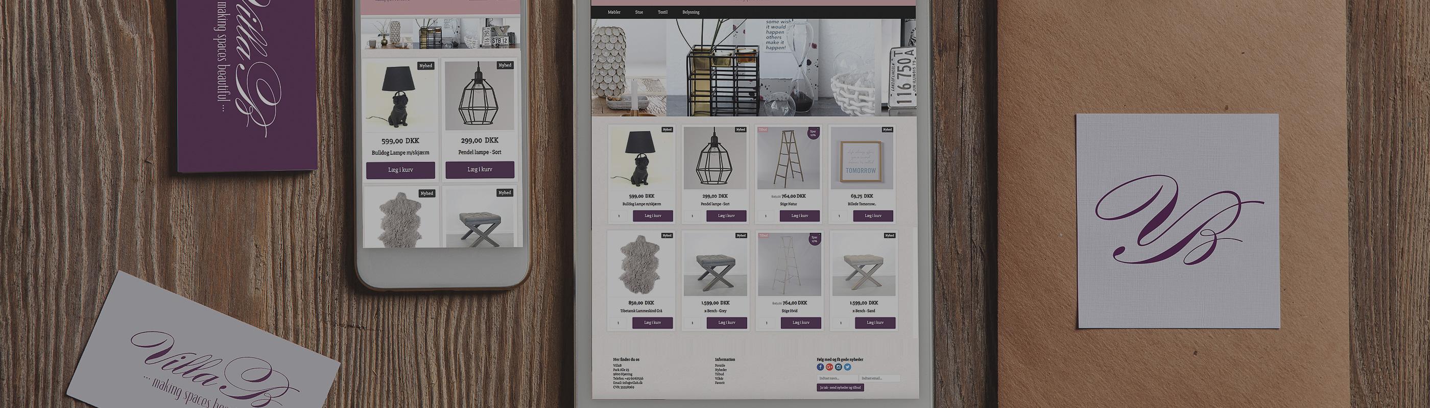 DanDomain webshop design | Responsive DanDomain shop